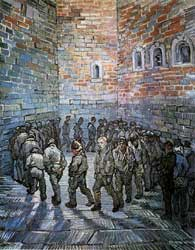 Vincent van Gogh. Prisoners exercising.